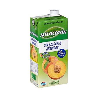 Hacendado Bebida melocoton (sin azucares añadidos) Brick 1 l