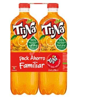 Trina Refresco naranja bipack Botella de 2,25 Litros
