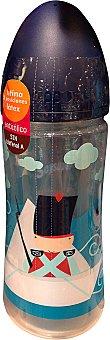 HIPPOS Biberón boca ancha 360 cc Azul disney  1 unidad