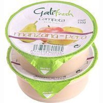 FRESHCUT Compota de pera-manzana Pack 2x150 g