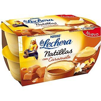 La Lechera Nestlé Natillas con caramelo Pack 4x70 g