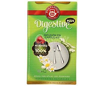 Pompadour Infusión digestive (mezcla de plantas naturales) en monodosis 10 unidades. Este tipo de capsulas son para máquinas de Nespresso
