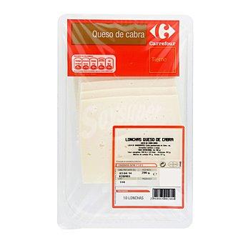 CARREFOUR Lonchas de queso tierno de cabra 200 g