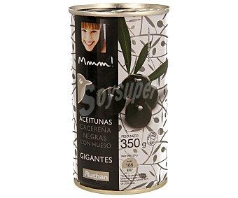 Mmm Auchan Aceitunas Cacerenas Negras con Hueso Lata 150 Gramos