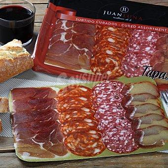 Juan Luna Tabla de jamón y lomo ibérico de cebo en lonchas Envase de 100 g