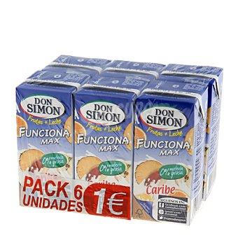 Don Simón Zumo caribe funciona max sin azúcar Pack de 6x200 ml