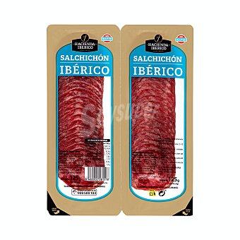 La Hacienda del Ibérico Salchichón ibérico La Hacienda del ibérico lonchas 2 paquetes x 62.5 g