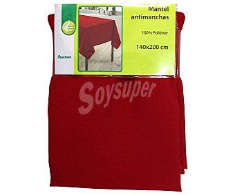 PRODUCTO ECONÓMICO ALCAMPO Mantel 100% poliéster, color rojo liso, 140x200 centímetros 1 Unidad