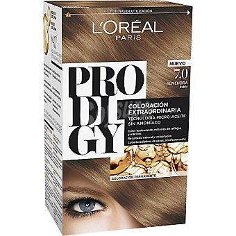 Prodigy L'Oréal Paris Tinte Almendra Rubio nº 7.0 coloración extraordinaria caja 1 unidad tecnología micro-aceite sin amoniaco Caja 1 unidad