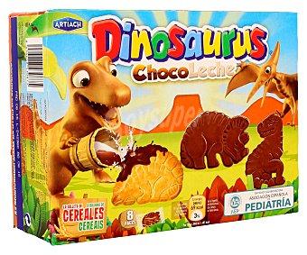 Artiach Galletas de cereales con chocolate con leche (forma de dinosaurios) 340 gramos