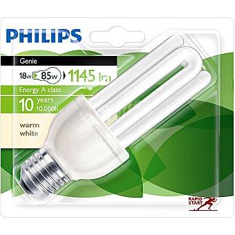 Philips (85 W) lámpara ahorro blanco cálido casquillo E27 (grueso) 220-240 V Genie 18 W 1 unidad
