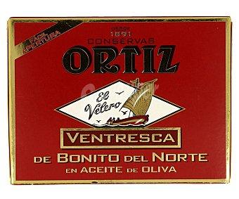 Conservas Ortiz Ventresca de bonito del norte en aceite de oliva Lata 80 g (neto escurrido)