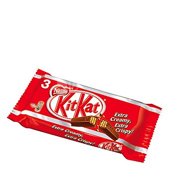 Kit Kat Nestlé Galleta recubierta de chocolate con leche Pack 3x41,5 g