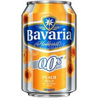 Bavaria Cerveza melocotón  lata 33cl