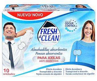 Fresh & Clean Almohadillas desodorantes con efecto anti manchas 10 uds