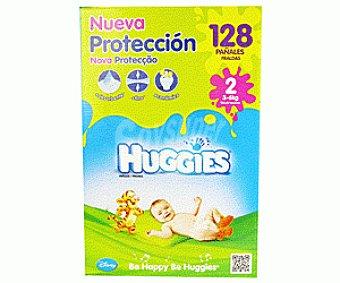 Huggies Pañales Dúo Talla 2 (3-6kg) 128U