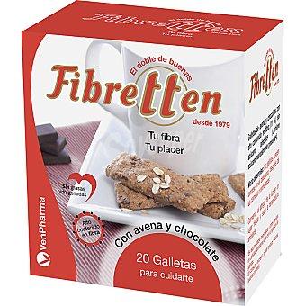 FIBRETTEN Galletas de avena con chocolate regulan el tránsito intestinal Paquete 200 g