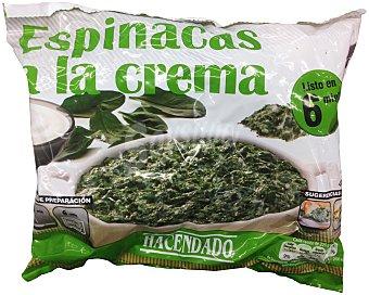 Hacendado Espinacas a la crema congeladas Paquete 450 g