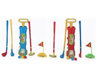 SPORTS GAME Juego infantil de Golf, que consta de 3 palos, 3 pelotas, una simulación de agujero y una práctica bolsa con ruedas para transportar y guardarlo todo 1 unidad