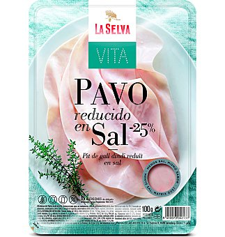 La Selva Pechuga pavo reducido sal 100 g