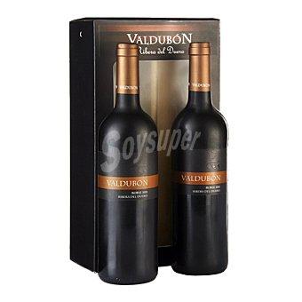 Valdubón Estuche de vino D.O Ribera del Duero roble tinto Pack 2x75 cl
