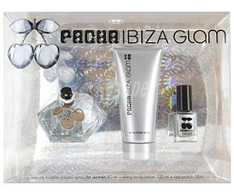 PACHÁ Ibiza Estuche Queen Glam: Eau de Toilette 80ml + loción hidratante cuerpo 100ml + laca uñas 12ml 1 Unidad