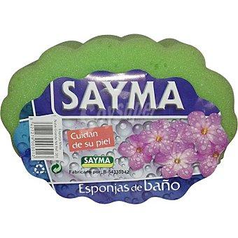 Sayma Esponja de baño normal bolsa 1 unidad