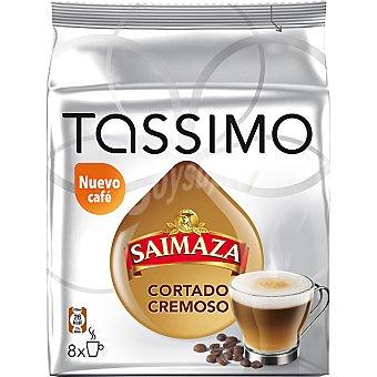 Tassimo Saimaza Cápsulas Café Cortado Cremoso 16 capsulas (8 café + 8 leche) - 236 g