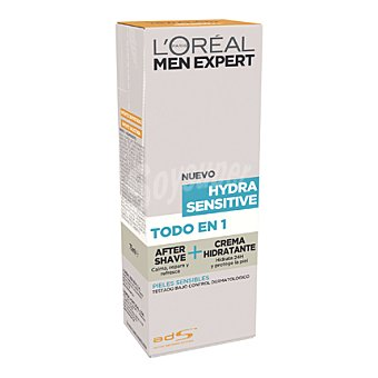 Men Expert L'Oréal Paris After shave + crema hidratante Hydra Sensitive para pieles sensibles 75 ml