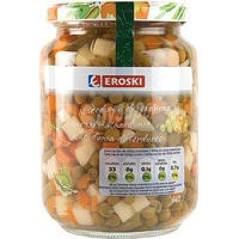 Eroski Macedonãa de verduras Frasco 450 g