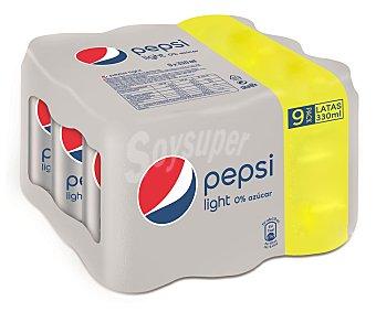 Pepsi Refresco de cola light Pack 9 x 33 cl