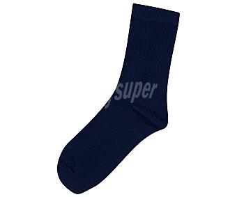 In Extenso Pack de 3 pares de calcetines de antipresión para niño, color azul marino, talla 35/38 Pack de 3