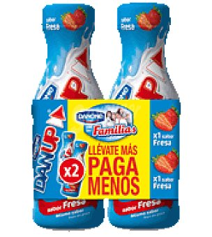 Danone Yogur liquido fresa Dan'up Pack de 2x600 g