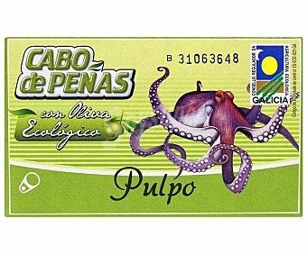 Cabo de Peñas Pulpo con aceite de oliva ecológico Lata 65 g (peso neto escurrido)