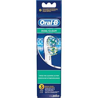 BRAUN - ORAL B EB417-3 Recambio cepillo dental Dual Clean 3 unidades 3 unidades