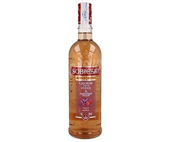 Sobieski Bebida espirituosa de vokda con frambuesa y violeta botella de 70 cl