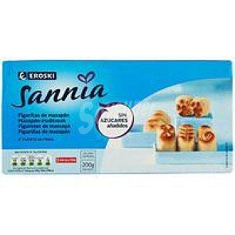 Eroski Sannia Figuritas de mazapán sin azúcar Caja 200 g