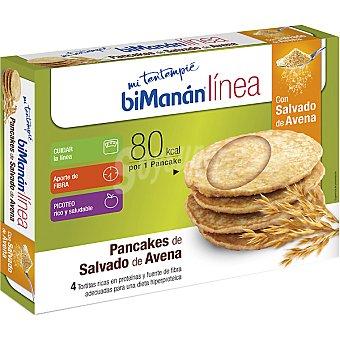 BIMANAN LINEA Pancakes de salvado de avena 4 unidades envase 240 g 4 unidades