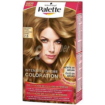 Palette Schwarzkopf Tinte intense color cream rubio dorado caramelo nº 7.5 Caja 1 unidad