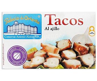 Palacio de Oriente Pulpo en Tacos Ajillo 72 Gramos