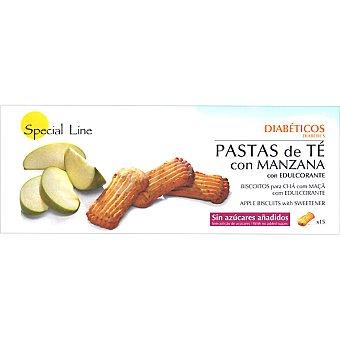 Special Line pastas de té con manzana sin azúcares añadidos envase 205 g 15 unidades