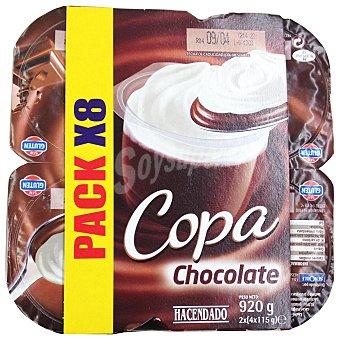 HACENDADO Copa chocolate y nata 8 unidades de 115 g (920 g)