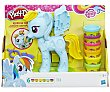 Peinados de colores Rainbow Dash, My little pony, con 6 botes de plastilina play-doh  Playdoh