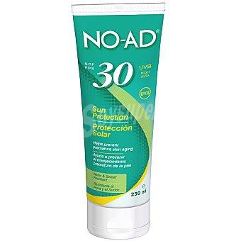 NO-AD Protección solar FP-30 ayuda a prevenir el envejecimiento prematuro de la piel resistente al agua y al sudor Tubo 250 ml