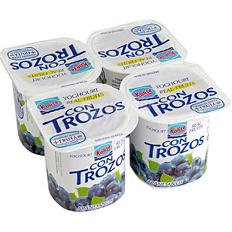Kalise Yogur con trozos de arándanos Pack 4 unds. 125 g
