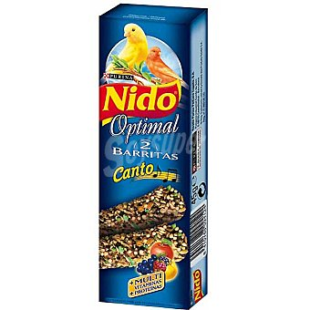 FRISKIES NIDO OPTIMAL Barritas para canarios especial canto estuche 45 g 2 unidades