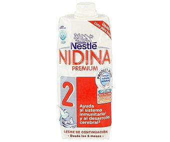 Nidina Nestlé Leche de continuación 2 desde los 6 meses del bebé 500 mililitros
