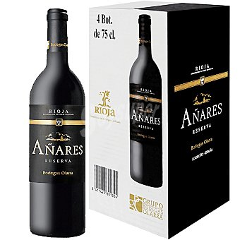 Bodegas Olarra Vino tinto Añares reserva D.O. Rioja caja  4 botellas 75 cl