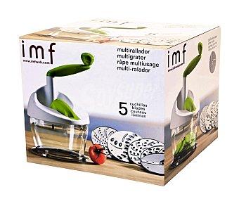 IMF Multi rallador giratorio de termoplástico ABS con 5 cuchillas de acero inoxidable 1 Unidad