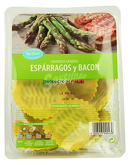 Pasta fresca girasoles grandes de espárragos y bacon Tarrina 250 g
